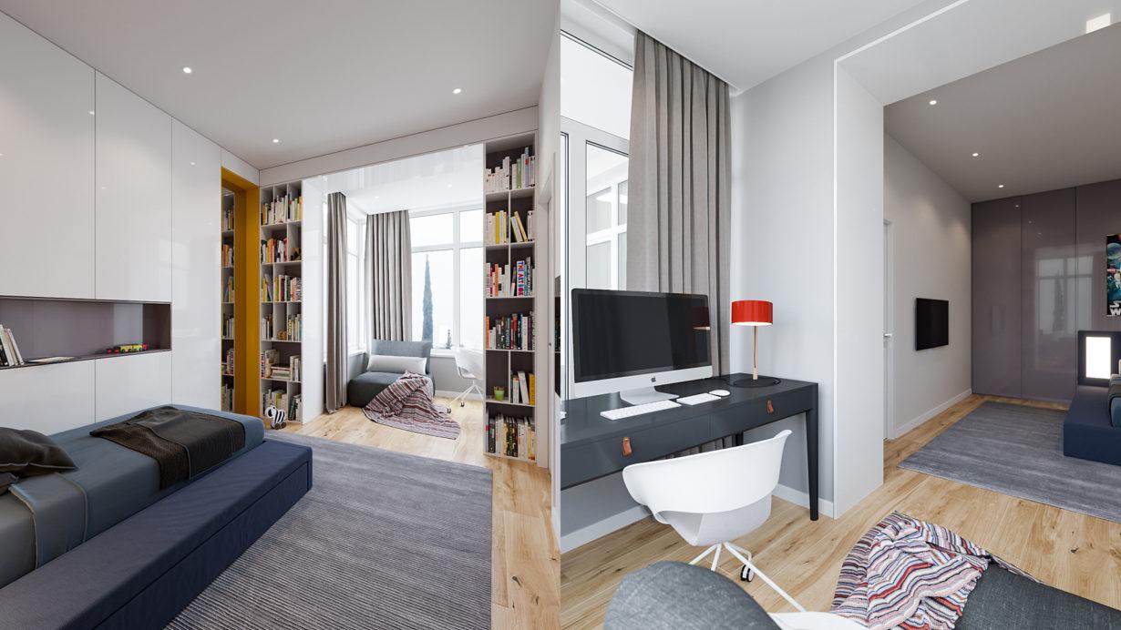 Интерьер домашнего офиса в квартире