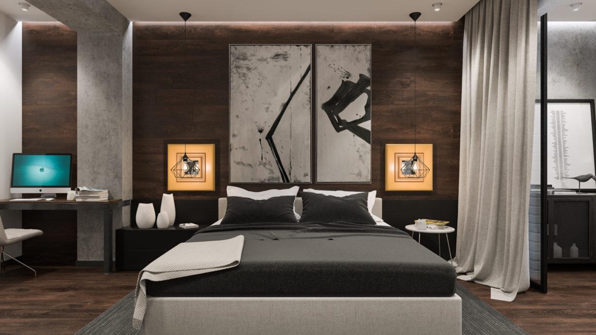 Спальня и домашний офис