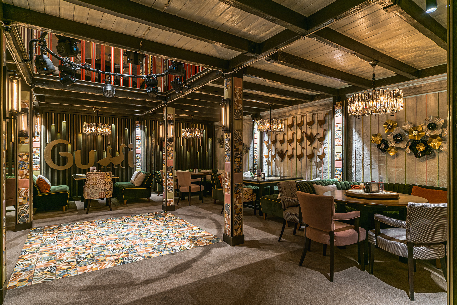 Дизайн интерьера ресторана Gussi