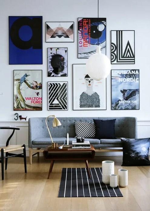Настенная галерея в дизайне интерьера